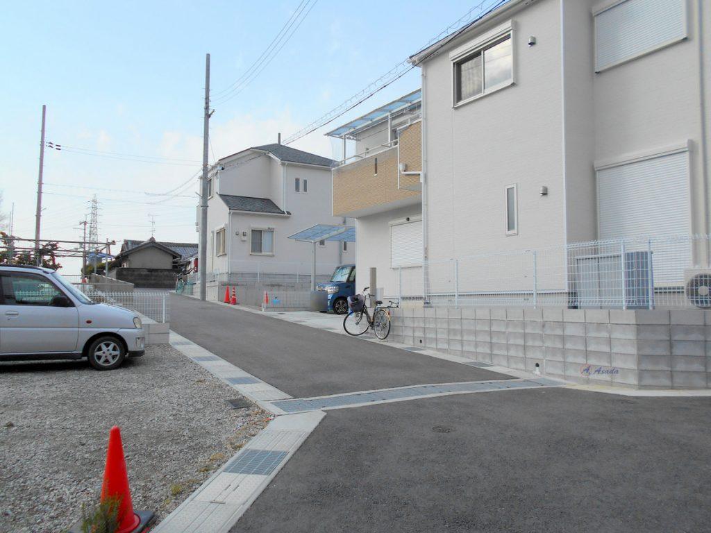 新興住宅地が現れます